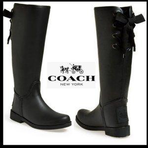 COACH Tristee Waterproof Rain Boots Size 12